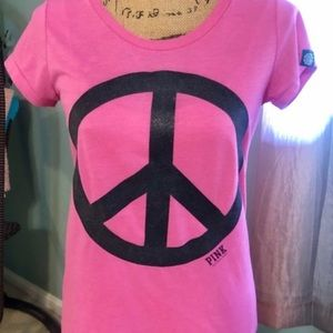 VS PINK vintage rare peace top M earth day 2009